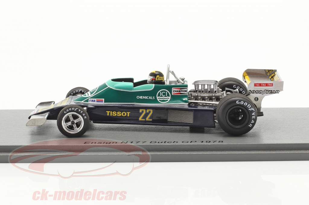 Derek Daly Ensign N177 #22 néerlandais GP formule 1 1978 1:43 Spark