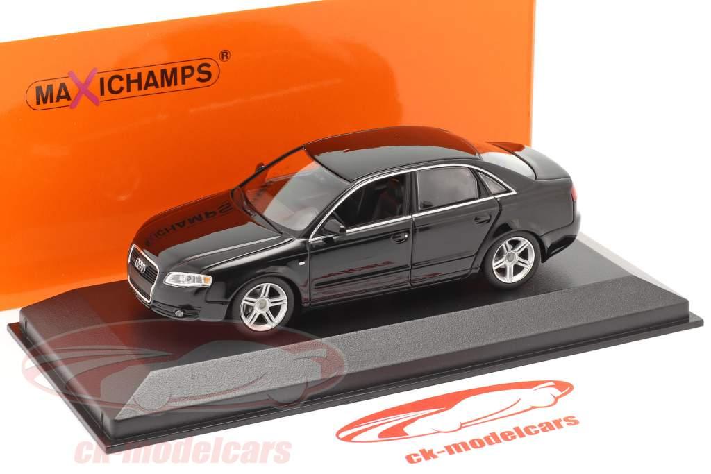 Audi A4 year 2004 black 1:43 Minichamps