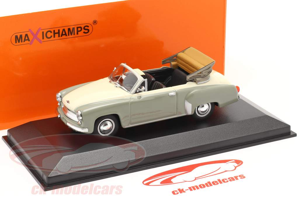 Wartburg 311 Cabriolet year 1958 grey / white 1:43 Minichamps