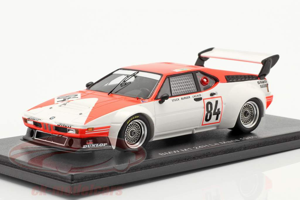 BMW M1 #84 24h LeMans 1980 Stuck, Lacaud, Bürger 1:43 Spark