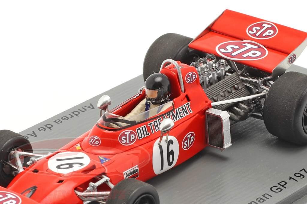 Andrea de Adamich March 711 #16 tysk GP formel 1 1971 1:43 Spark