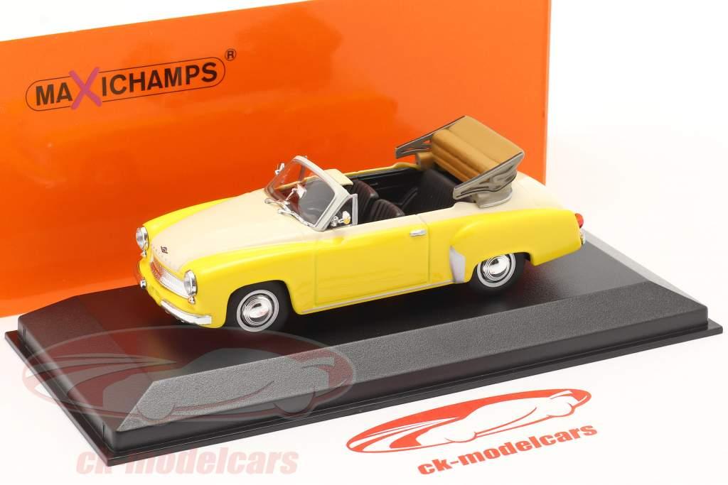Wartburg 311 Cabriolé año 1958 amarillo / blanco 1:43 Minichamps