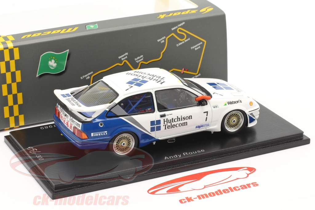 Ford Sierra RS500 Cosworth #7 2. plads Macau Guia Race 1989 Rouse 1:43 Spark