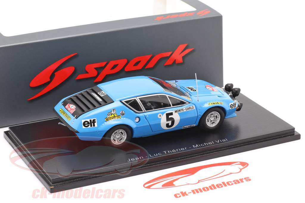 Alpine A310 #5 Rallye Monte Carlo 1975 Therier, Vial 1:43 Spark