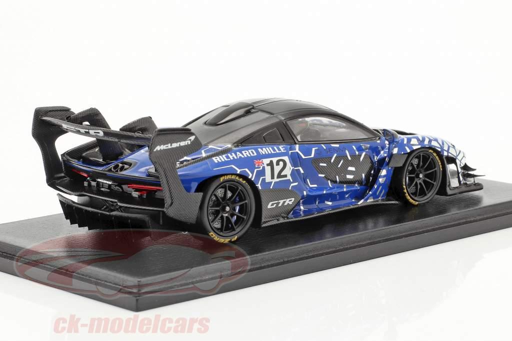 McLaren Senna GTR 2019 #12 blue / black 1:43 Spark