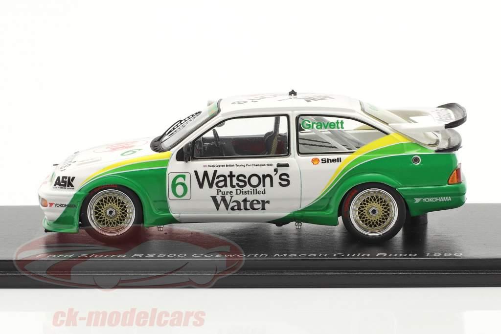 Ford Sierra RS500 Cosworth #6 Macau Guia Race 1990 Gravett 1:43 Spark