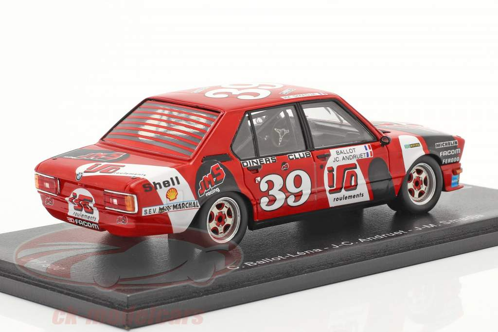 BMW 530i #39 Tercero 24h Spa 1980 J.M.S. Racing Team 1:43 Spark
