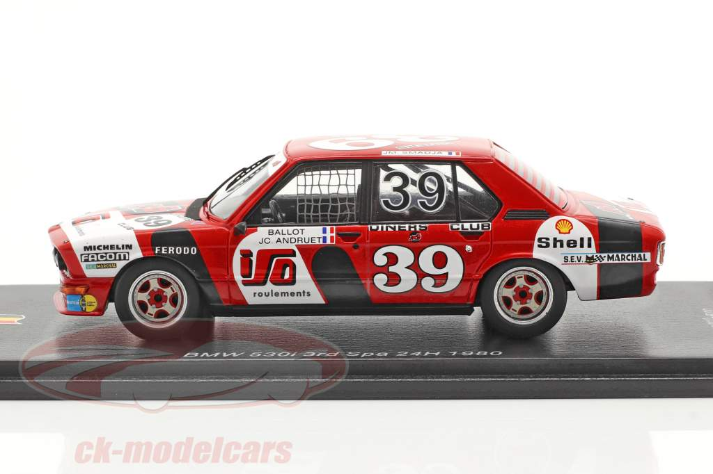 BMW 530i #39 3 ° 24h Spa 1980 J.M.S. Racing Team 1:43 Spark