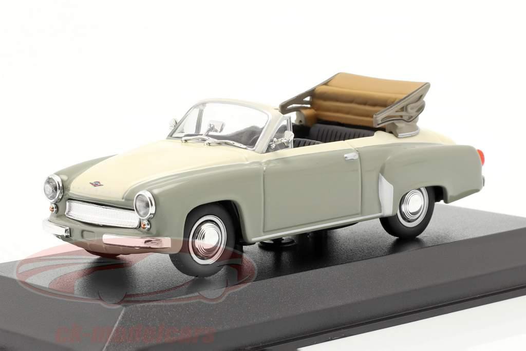 Wartburg 311 Cabriolet år 1958 grå / hvid 1:43 Minichamps