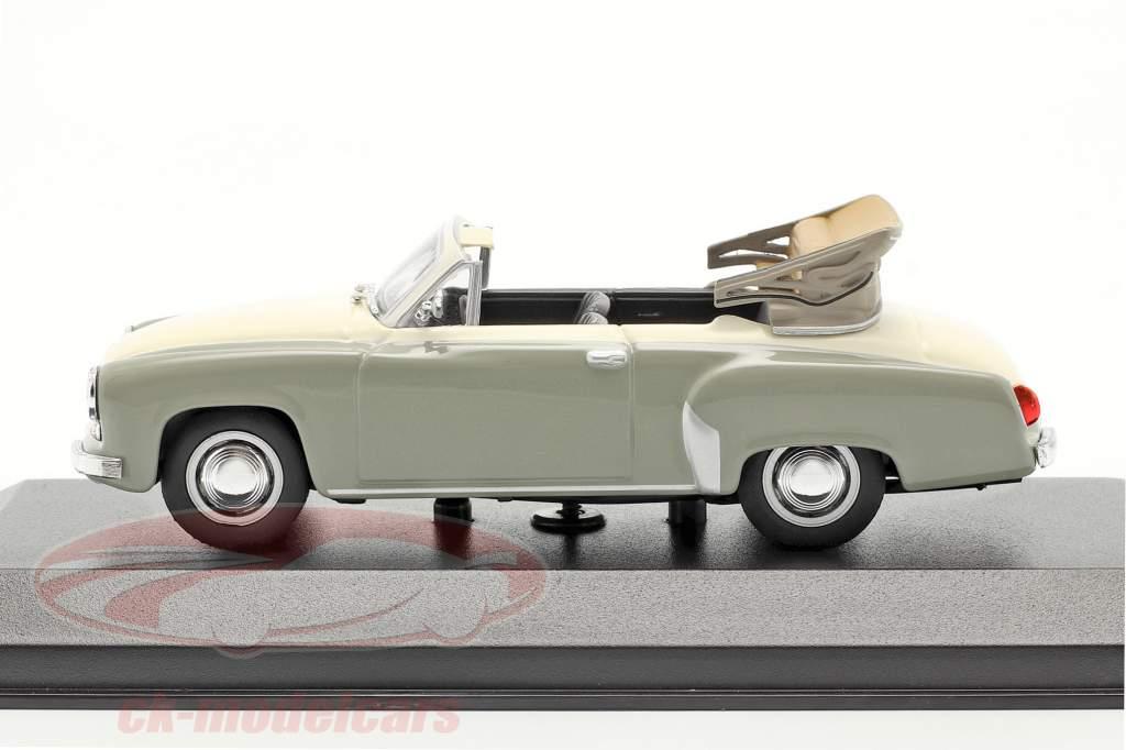 Wartburg 311 Cabriolet an 1958 gris / blanc 1:43 Minichamps