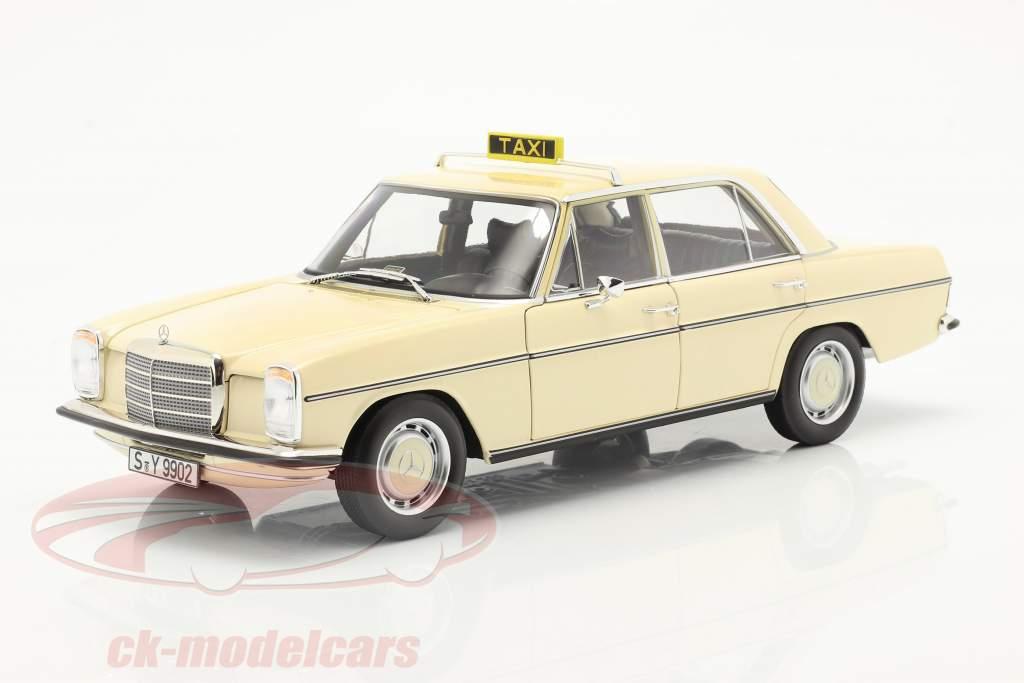Mercedes-Benz 200-250 E (W114/115) Taxi Baujahr 1968 hellelfenbein 1:18 Norev