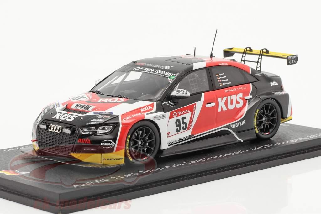 Audi RS3 LMS #95 24h Nürburgring 2019 Avia Sorg Rennsport 1:43 Étincelle
