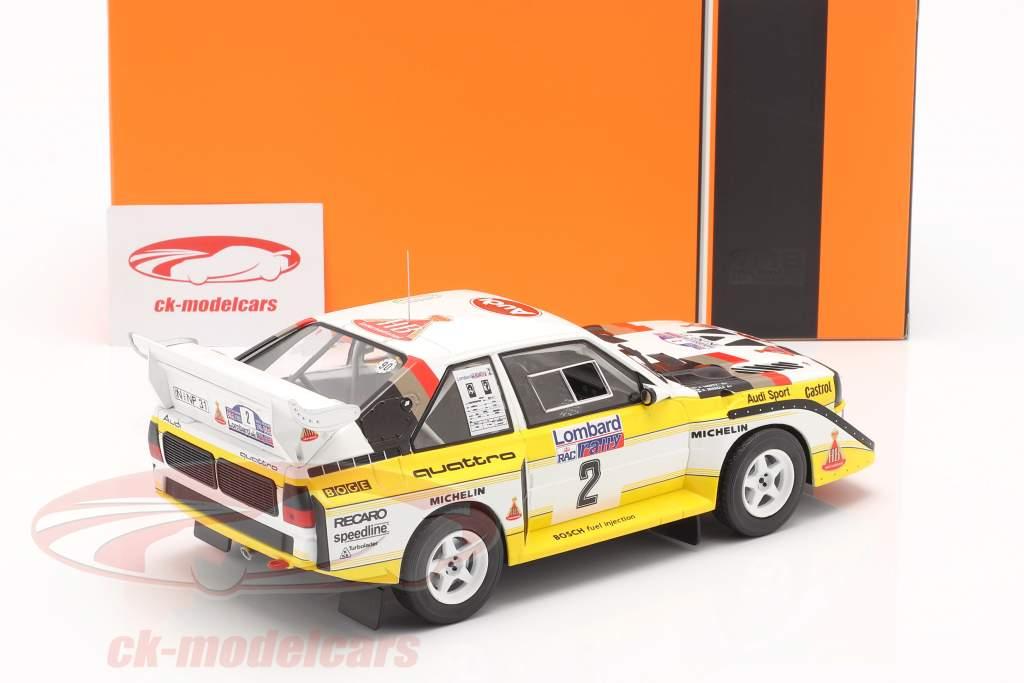 Audi Sport Quattro S1 #2 Lombard RAC Rallye 1985 Mikkola, Hertz 1:18 Ixo