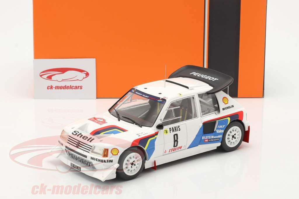 Peugeot 205 T16 E2 #8 6th Rallye Monte Carlo 1986 Saby, Fauchille 1:18 Ixo