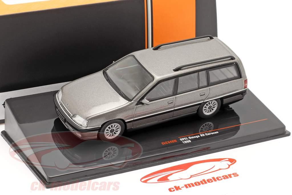 Opel Omega A2 Caravan Baujahr 1990 grau metallic 1:43 Ixo