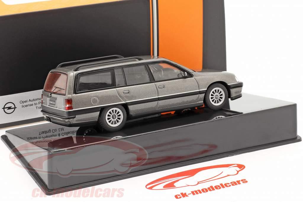 Opel Omega A2 Caravan ano 1990 cinzento metálico 1:43 Ixo