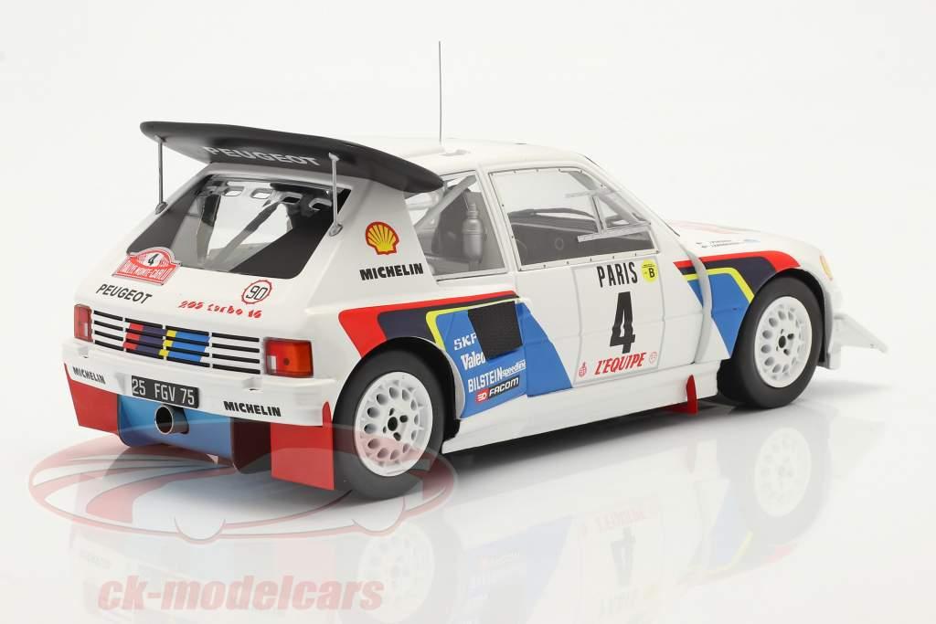 Peugeot 205 T16 E2 #4 5. plads Rallye Monte Carlo 1986 Kankkunen, Piironen 1:18 Ixo
