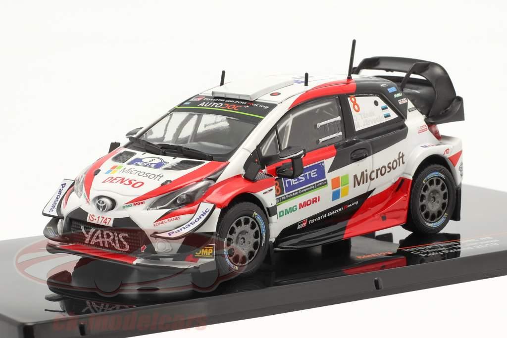 Toyota Yaris WRC #8 gagnant Rallye Finlande Champion du monde 2019 Tänak, Järveoja 1:43 Ixo