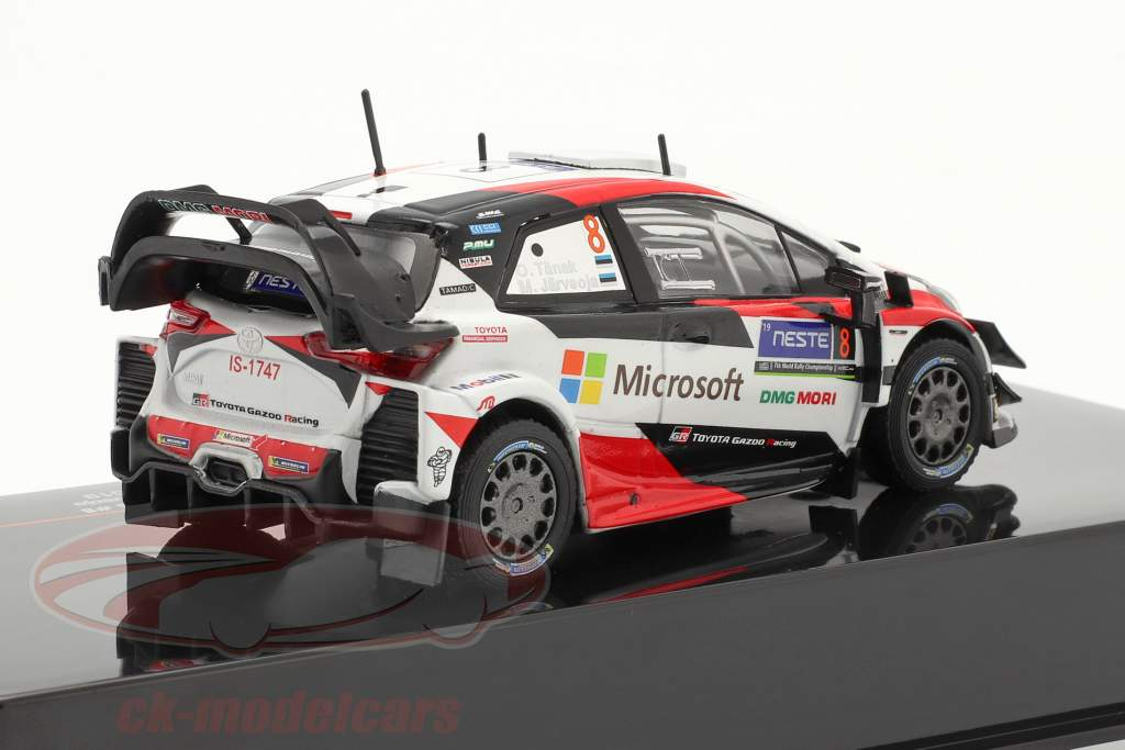 Toyota Yaris WRC #8 vencedora Rallye Finlândia Campeão mundial 2019 Tänak, Järveoja 1:43 Ixo