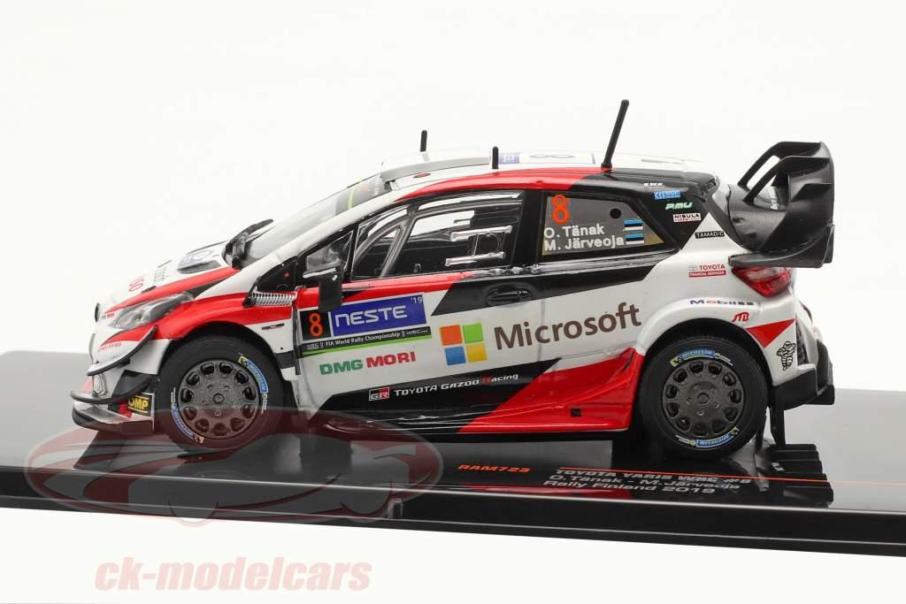 Toyota Yaris WRC #8 vinder Rallye Finland Verdensmester 2019 Tänak, Järveoja 1:43 Ixo