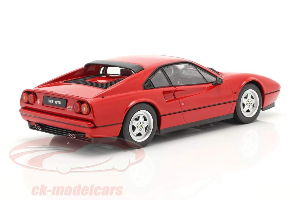 Ferrari 328 GTB Bouwjaar 1985 rood 1:18 KK-Scale