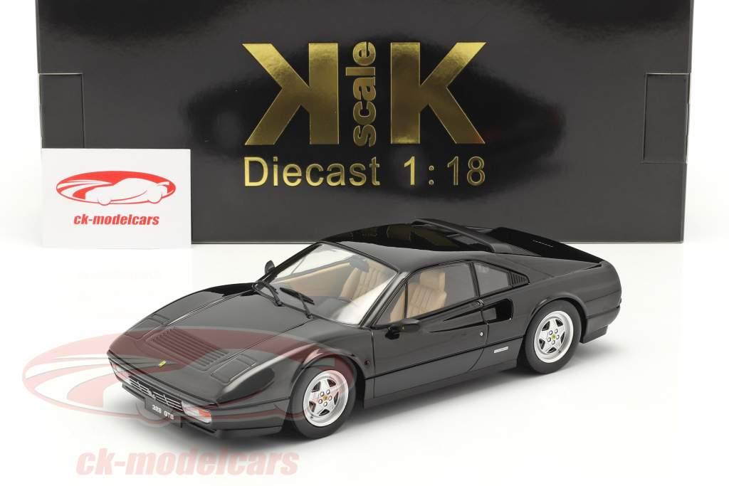 Ferrari 328 GTB Année de construction 1985 noir 1:18 KK-Scale