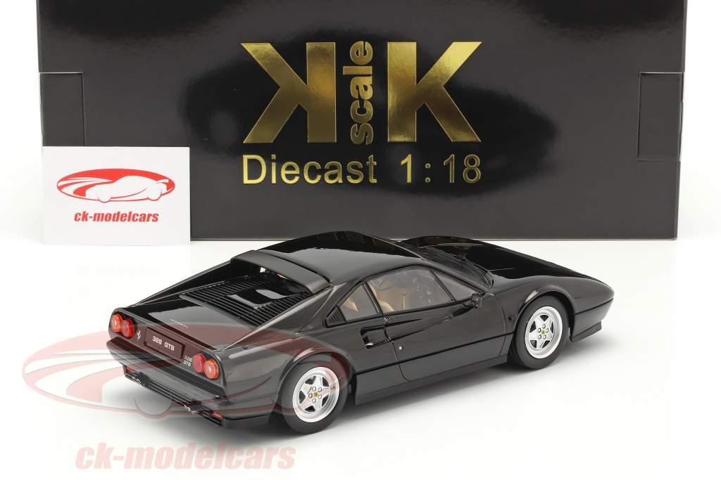 Ferrari 328 GTB Año de construcción 1985 negro 1:18 KK-Scale