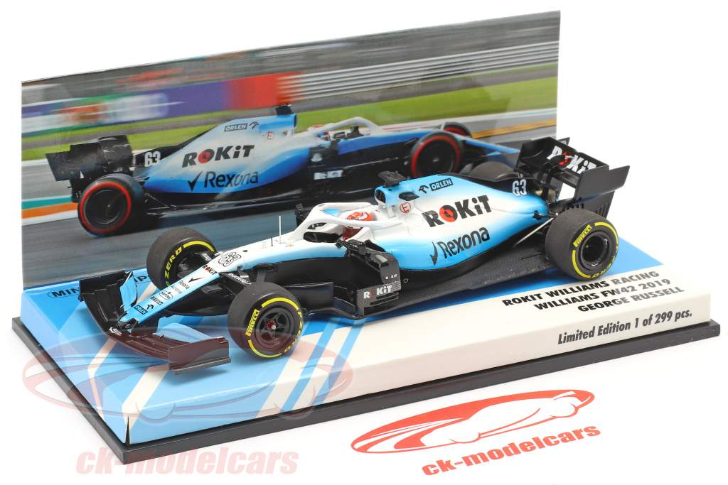 George Russell Williams FW42 #63 Fórmula 1 2019 1:43 Minichamps