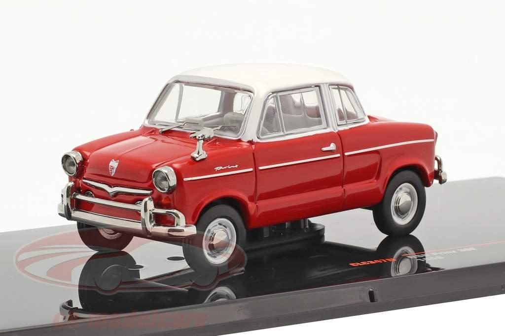 NSU Prinz 30E jaar 1959 rood / wit 1:43 Ixo