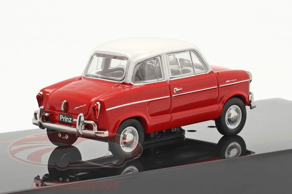 NSU Prinz 30E año 1959 rojo / blanco 1:43 Ixo