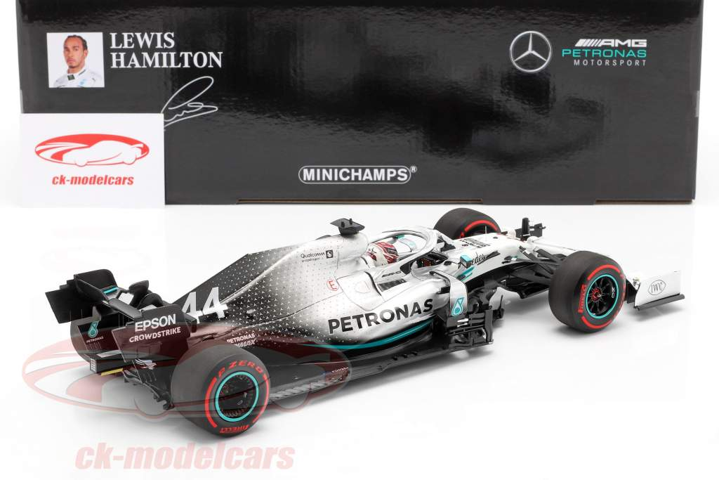 L. Hamilton Mercedes-AMG F1 W10 #44 tysk GP Verdensmester F1 2019 1:18 Minichamps