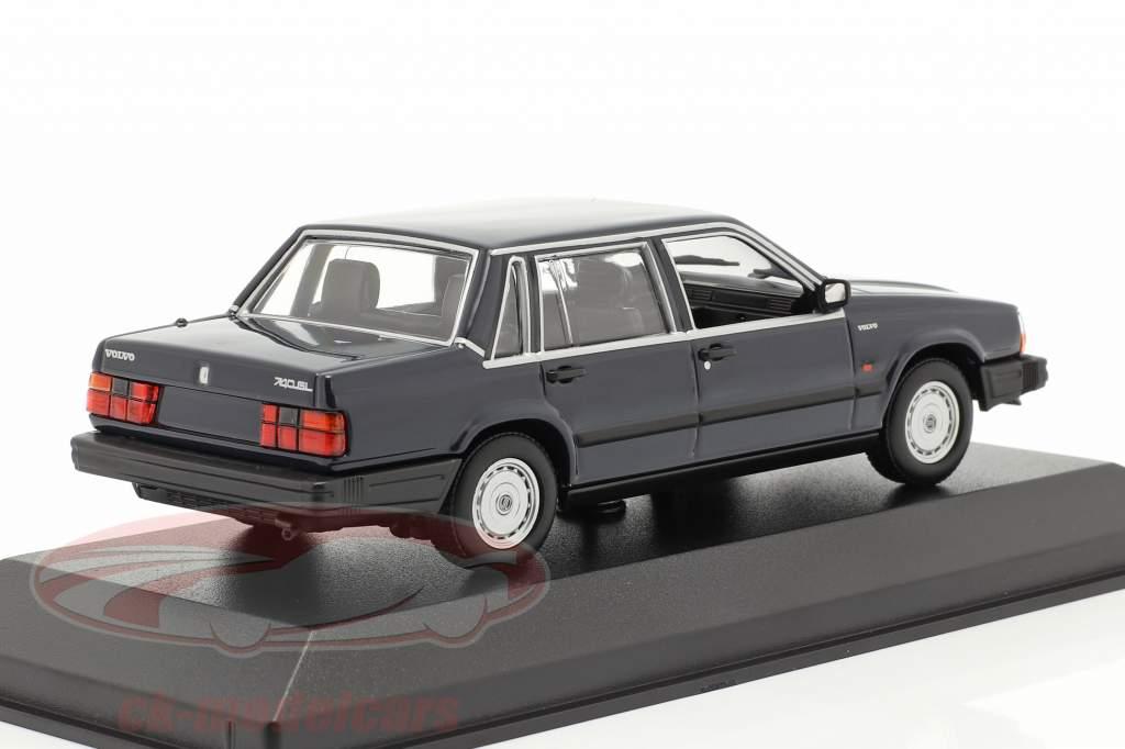Volvo 740 GL Anno di costruzione 1986 mezzanotte blu 1:43 Minichamps