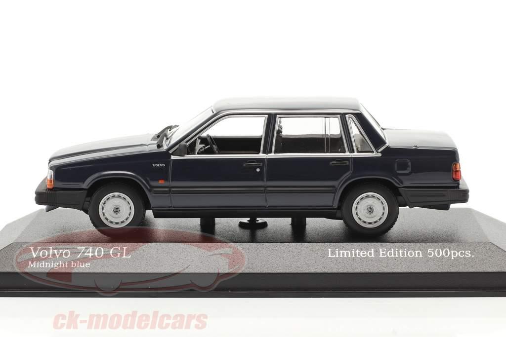 Volvo 740 GL Ano de construção 1986 meia noite azul 1:43 Minichamps