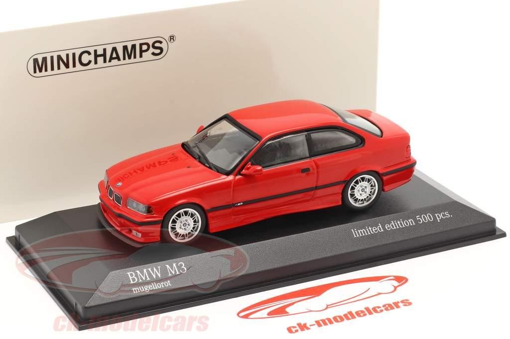 BMW M3 (E36) Bouwjaar 1992 mugello rood 1:43 Minichamps