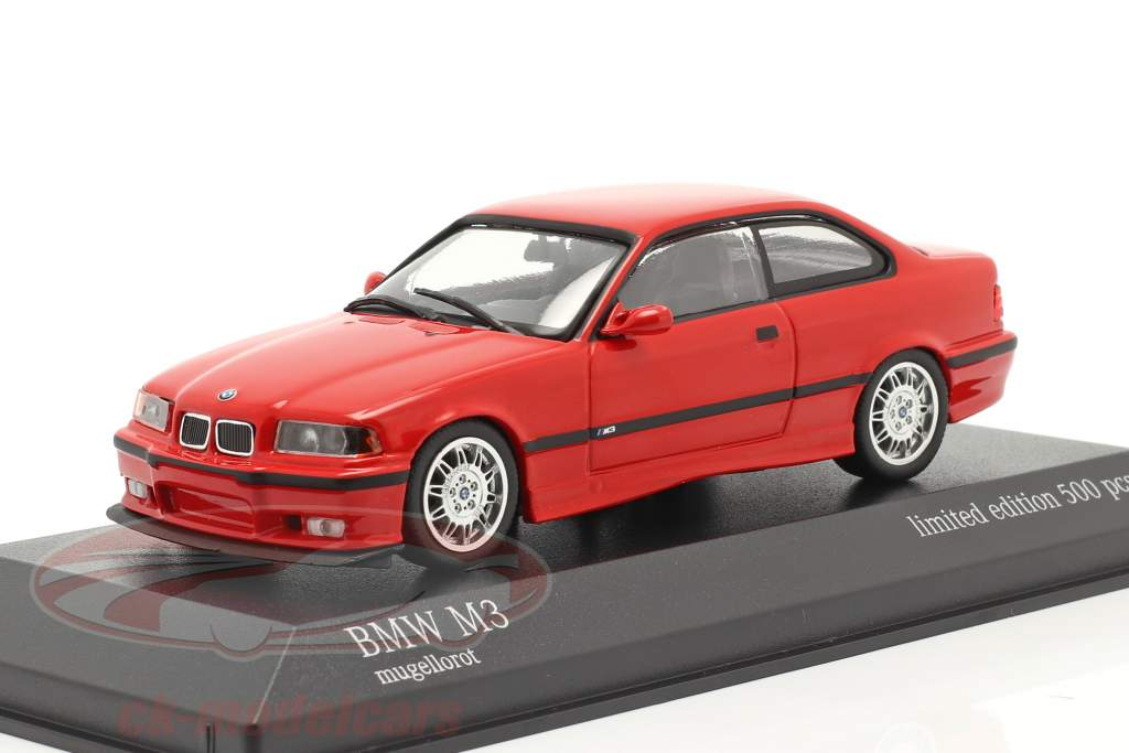 BMW M3 (E36) Année de construction 1992 mugello rouge 1:43 Minichamps