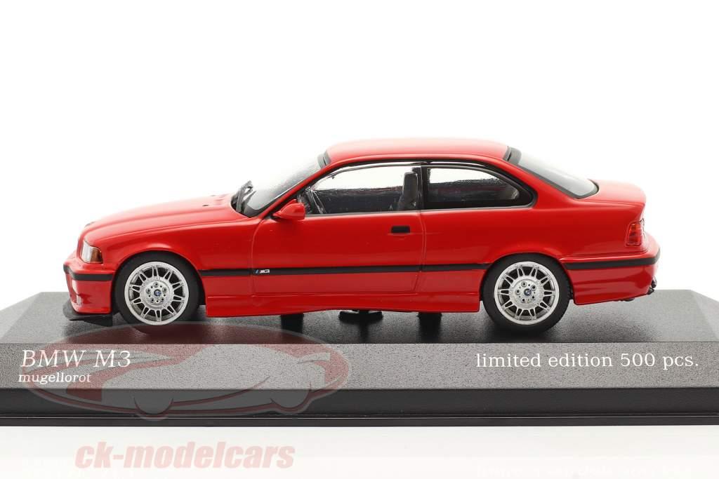 BMW M3 (E36) Año de construcción 1992 mugello rojo 1:43 Minichamps