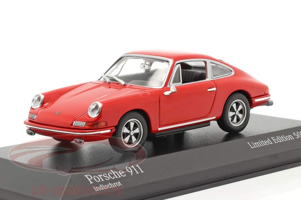 Porsche 911 Bouwjaar 1964 bewakers rood 1:43 Minichamps