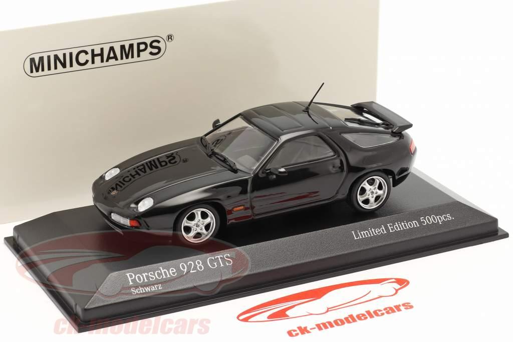 Porsche 928 GTS Byggeår 1991 sort 1:43 Minichamps