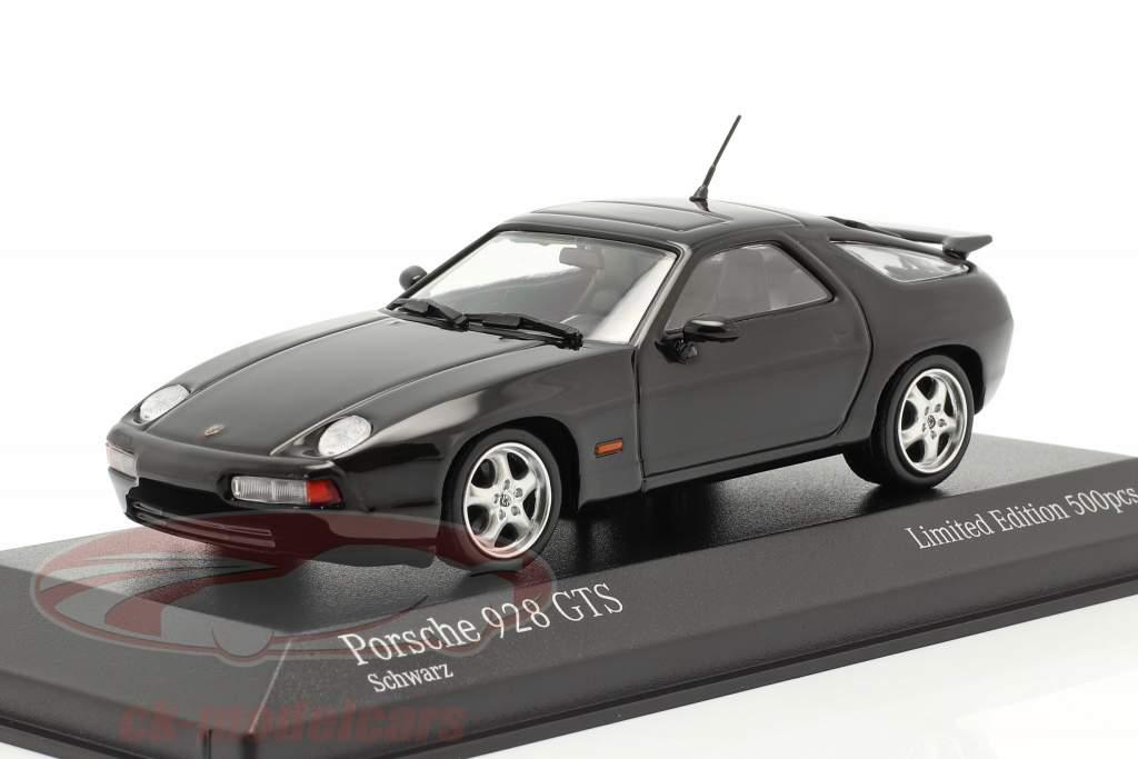 Porsche 928 GTS Année de construction 1991 noir 1:43 Minichamps