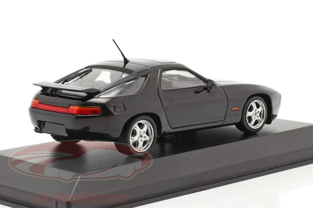 Porsche 928 GTS Bouwjaar 1991 zwart 1:43 Minichamps