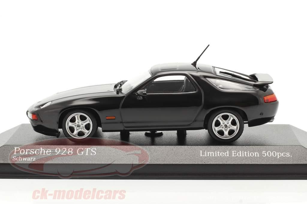 Porsche 928 GTS Año de construcción 1991 negro 1:43 Minichamps
