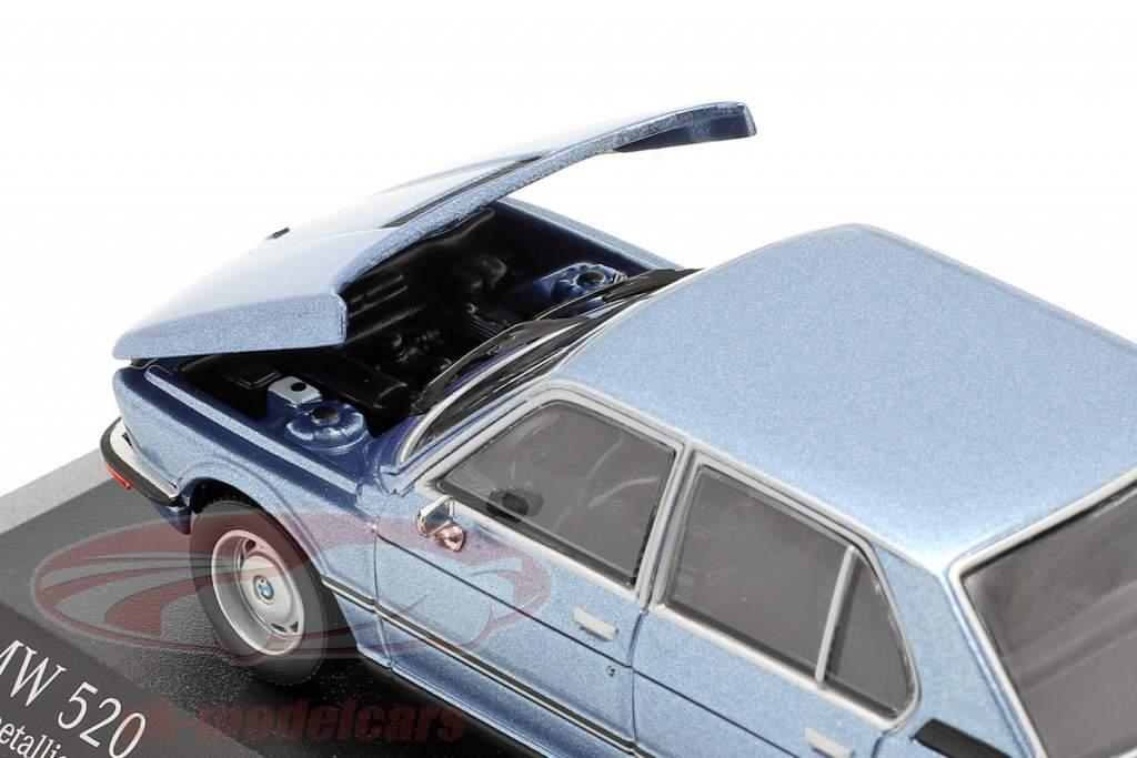 BMW 520 Anno di costruzione 1974 fiordo blu metallico 1:43 Minichamps