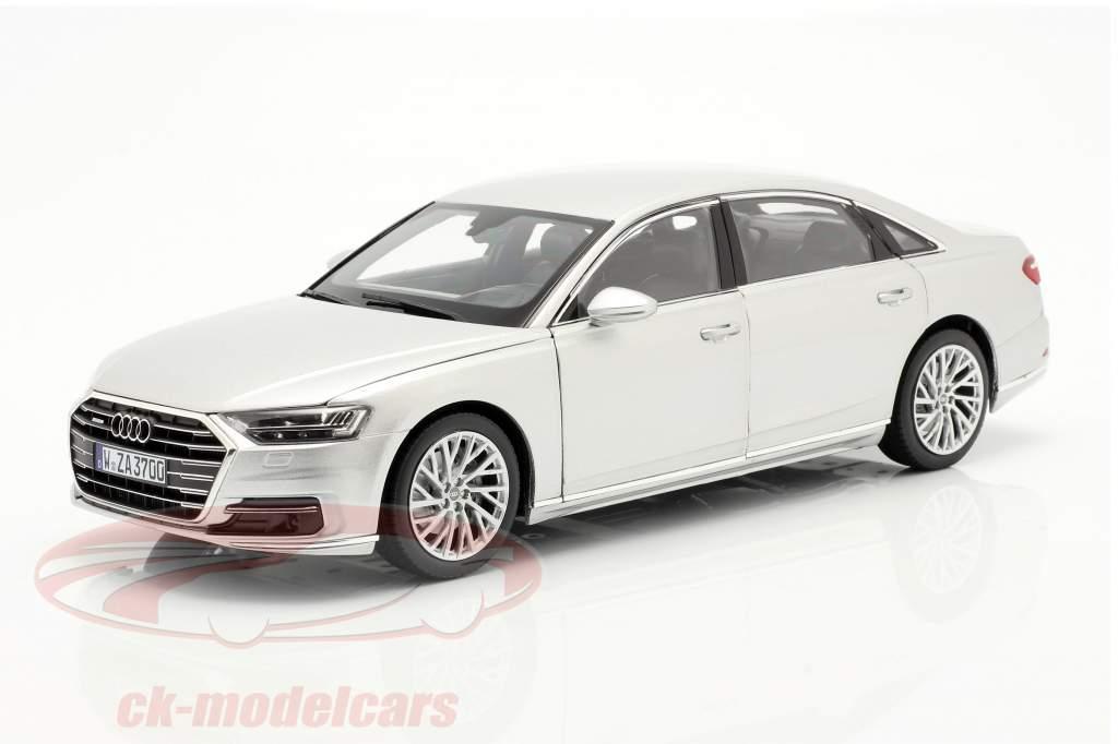 Audi A8 L year 2018 silver metallic 1:18 Norev