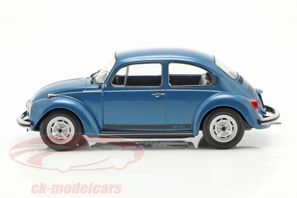 Volkswagen VW Käfer 1303 City Baujahr 1973 blau metallic 1:18 Norev