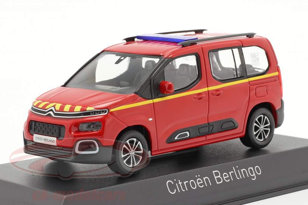 Citroen Berlingo Pompiers Année de construction 2020 rouge 1:43 Norev