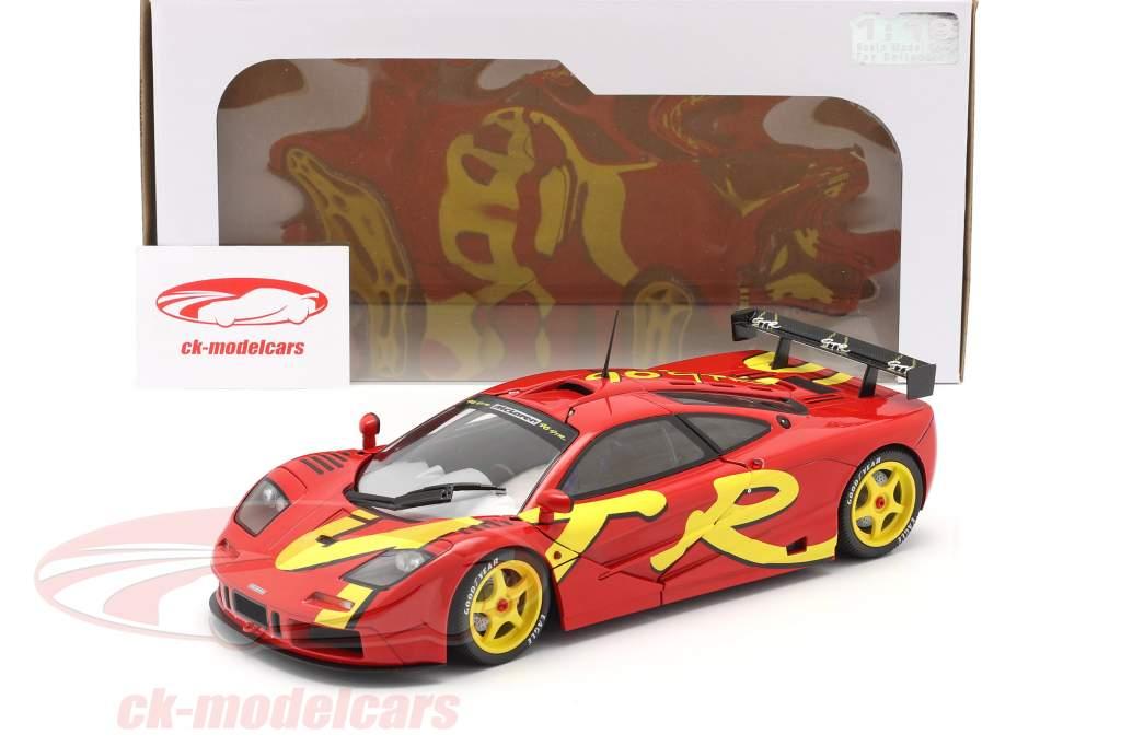 McLaren F1 GTR Année de construction 1996 rouge / Jaune 1:18 Solido