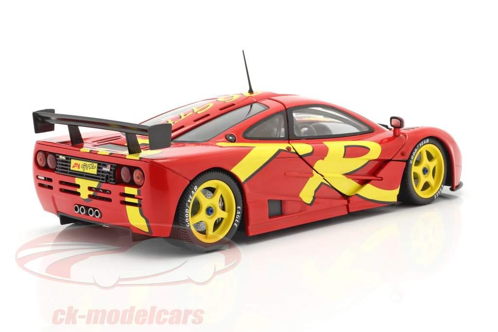 McLaren F1 GTR year 1996 red / yellow 1:18 Solido