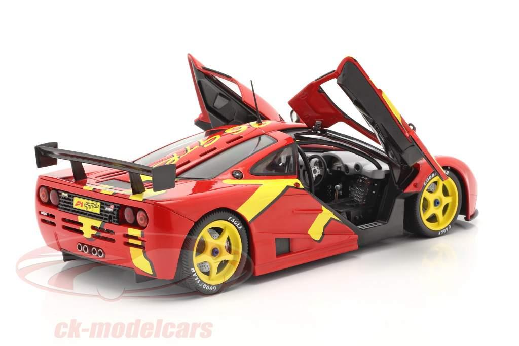 McLaren F1 GTR Anno di costruzione 1996 rosso / giallo 1:18 Solido