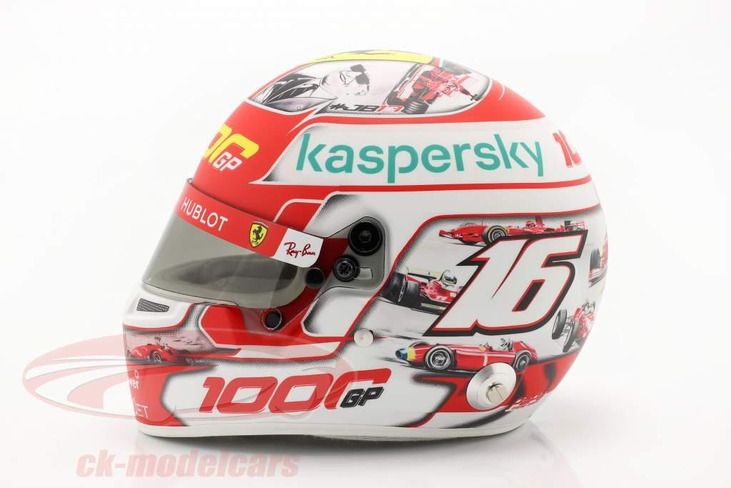 C. Leclerc #16 1000 Ferrari formula 1 GP Toscana 2020 casco Con vetrina 1:2 Bell