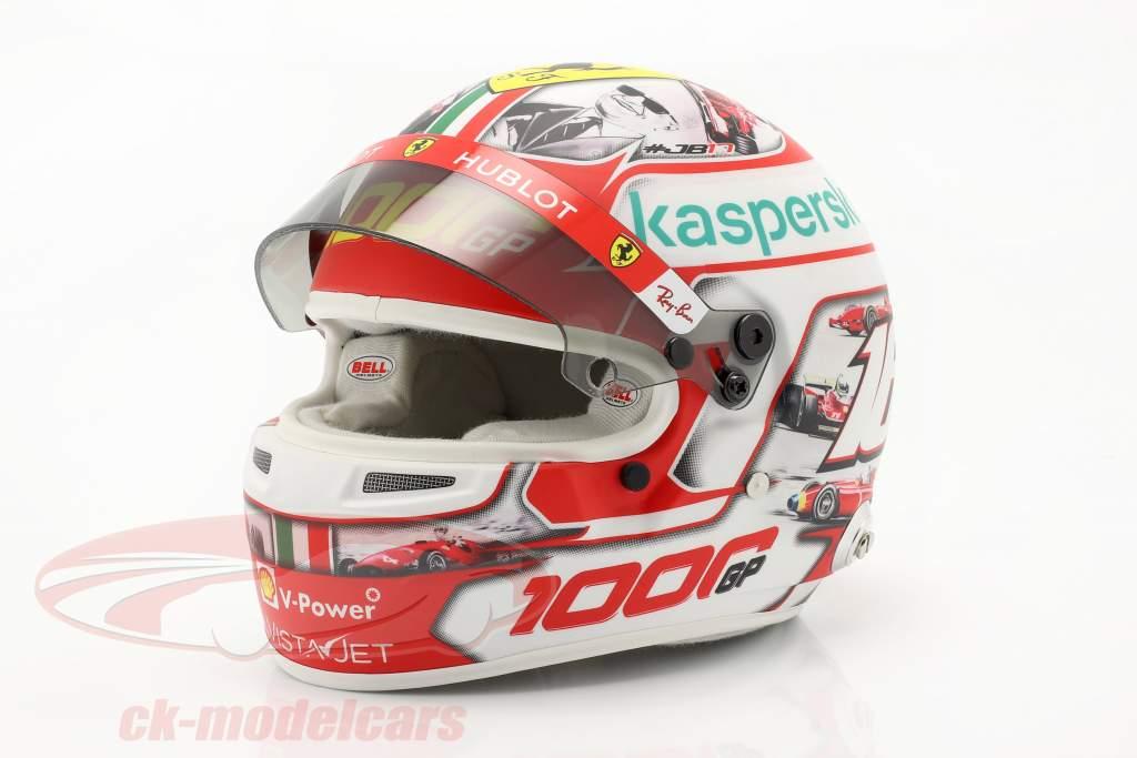 C. Leclerc #16 1000 Ferrari formel 1 GP Toscana 2020 hjelm Med Udstillingsvindue 1:2 Bell